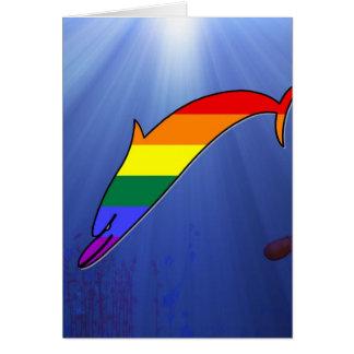 Cartão Golfinho do orgulho de GLBT