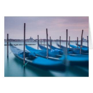 Cartão Gôndola em Veneza