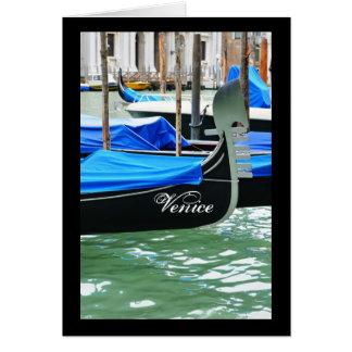 Cartão Gôndola em Veneza, Italia