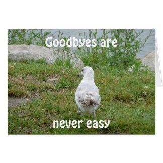 Cartão Goodbyes é nunca fácil