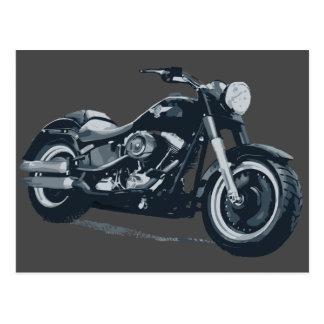 Cartão gordo do menino de Harley Davidson