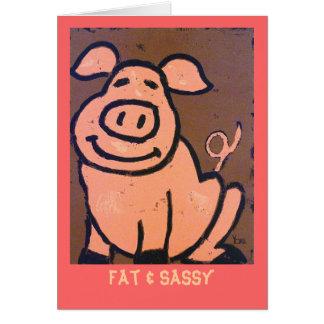 Cartão gordo & Sassy