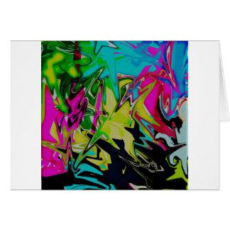 Cartão Gotejamento derretido abstrato da cor da