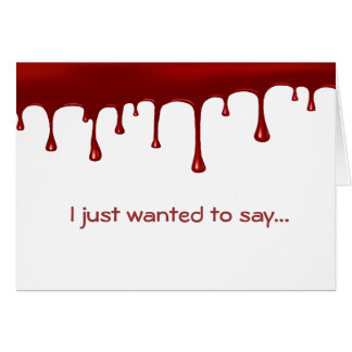 Cartão Gotejamento do sangue