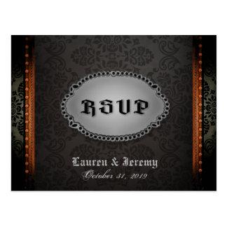 Cartão gótico alaranjado cinzento preto do Dia das