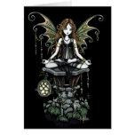 """Cartão gótico """"ambarino"""" da arte do país das fadas"""