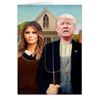Cartão Gótico americano Trumped