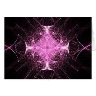 Cartão gótico cor-de-rosa da princesa Fractal