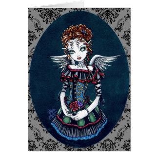 Cartão gótico da arte do anjo do Victorian de