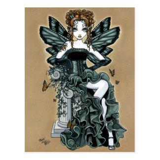 Cartão gótico da fada da borboleta do Couture de