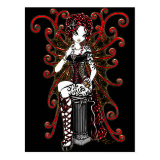Cartão gótico da fada dos namorados do Couture de