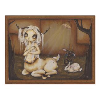 Cartão gótico da fantasia do zombi da menina dos