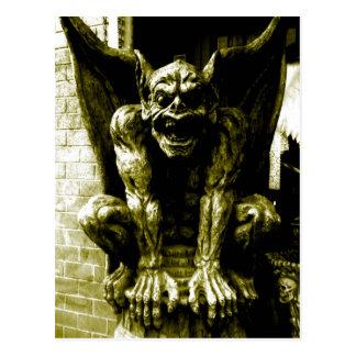 Cartão gótico da gárgula
