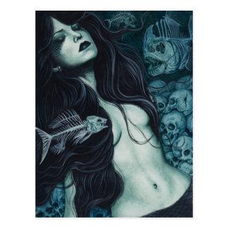 Cartão gótico da sereia
