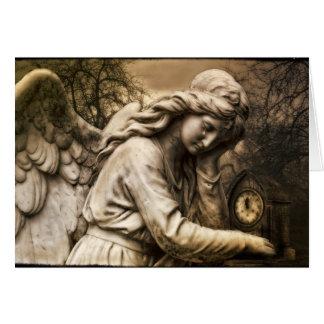 Cartão gótico do anjo
