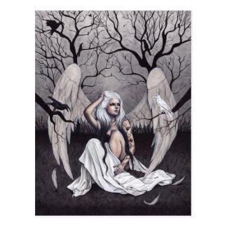 Cartão gótico do desespero da esperança branca do