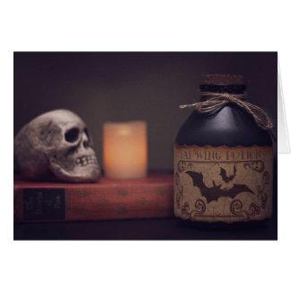 Cartão gótico do Dia das Bruxas