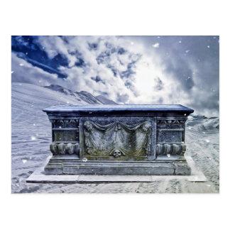 Cartão gótico do túmulo