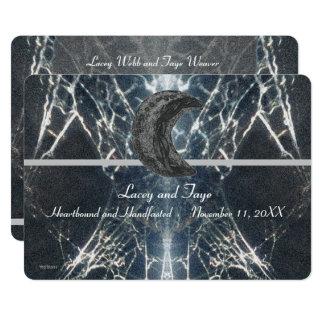 Cartão Gótico misterioso Handfasting cinzento preto
