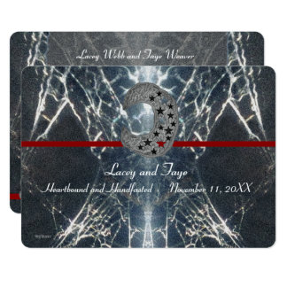 Cartão Gótico misterioso Handfasting vermelho preto
