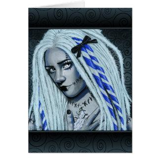 Cartão gótico rasgado da arte de Ragdoll