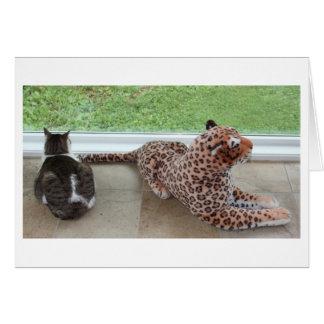 Cartão Gracey e leopardo preguiçoso