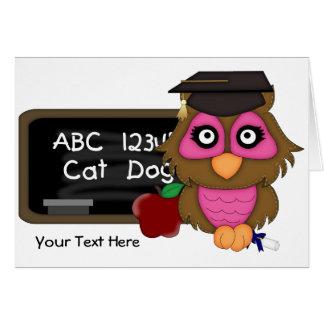 Cartão Graduação 2 da coruja (customizável)