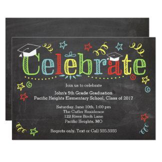 Cartão Graduação colorida Invitaiton, quadro
