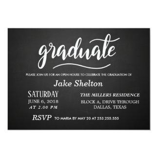Cartão Graduação da casa aberta da tipografia do quadro