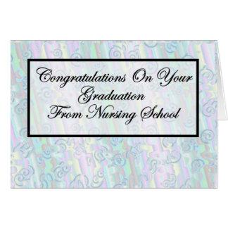 Cartão Graduação da escola de cuidados dos parabéns