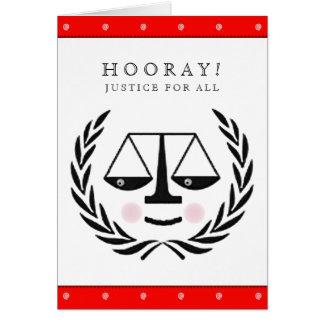 Cartão Graduação da escola de direito