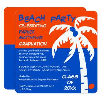 Cartão Graduação da palmeira e do coco do CHURRASCO da