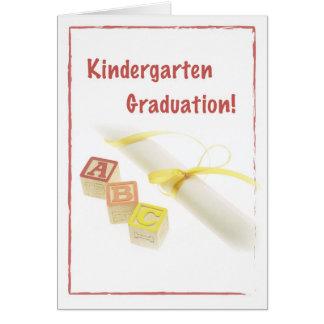 Cartão Graduação de 3723 jardins de infância