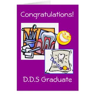 Cartão Graduação - dentista D.D.S