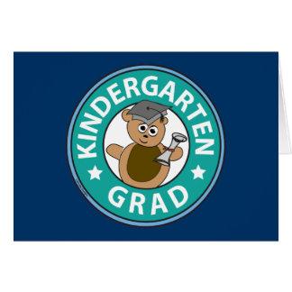 Cartão Graduação do jardim de infância
