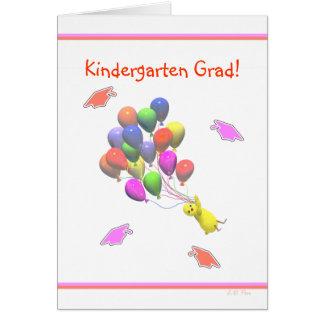 Cartão Graduação do jardim de infância do pintinho e dos