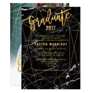 Cartão Graduação do ouro do falso de PixDezines/a de