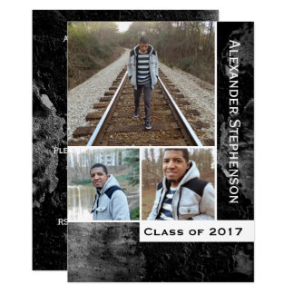 Cartão Graduação dos meninos da foto do concreto 3 do