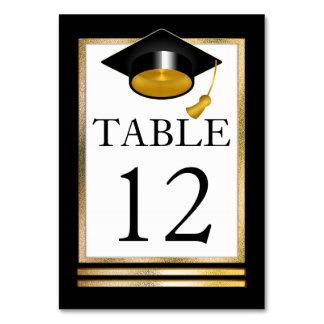 Cartão Graduação elegante   branca goldtone do preto  