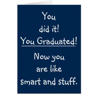 Cartão Graduação engraçada das citações dos parabéns
