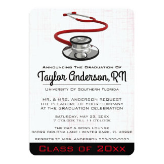 Cartão Graduação na moda da Faculdade de Medicina do