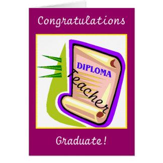 Cartão Graduação - professor