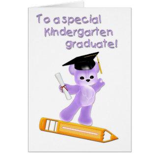 Cartão graduado do jardim de infância