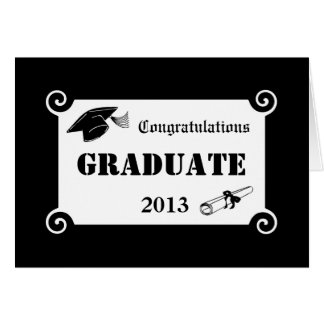Cartão graduado dos parabéns feitos sob encomenda
