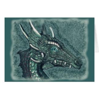 Cartão Graelle o mágico ela arte da fantasia do dragão