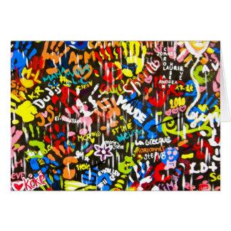 Cartão graffitis funky