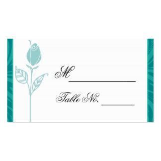 Cartão gráfico cor-de-rosa do lugar do casamento cartão de visita