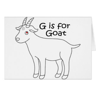 Cartão gráfico da cabra do bebê