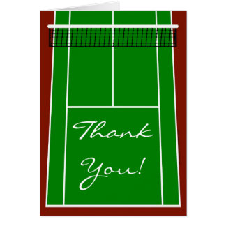 Cartão Gráfico da disposição do campo de ténis