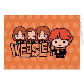 Cartão Gráfico de Weasley Siblilings dos desenhos